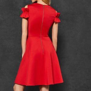 Brand New Ted Baker Ruffle Detail Dress